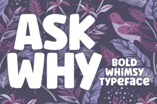 Print on Demand: Ask Why Display Font By Situjuh 1