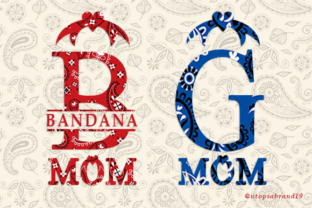 Print on Demand: Bandana Mom Monogram Decorative Font By utopiabrand19