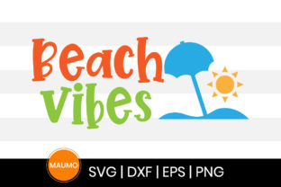 Print on Demand: Beach Vibes, Summer Svg Quotes Graphic Print Templates By Maumo Designs