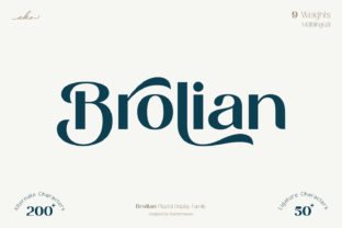 Print on Demand: Brolian Display Font By ekahermawan