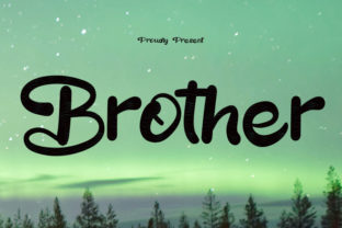 Print on Demand: Brother Script & Handwritten Font By muhawk47