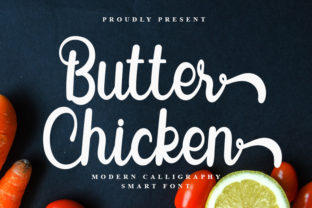 Print on Demand: Butter Chicken Script & Handwritten Font By FreshTypeINK