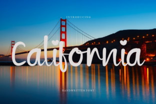 Print on Demand: California Script & Handwritten Font By Letterpen