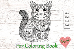 Cat for Adult Coloring Book Graphic Coloring Pages & Books Adults By somjaicindy
