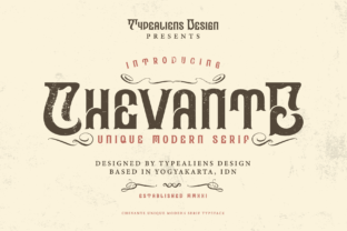 Print on Demand: Chevante Display Font By typealiens