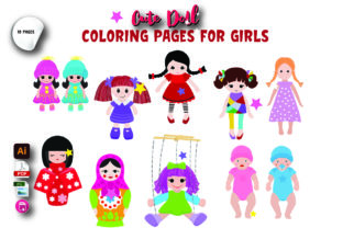 Cute Doll Coloring Book for Girls Graphic Coloring Pages & Books Kids By Moonz Coloring
