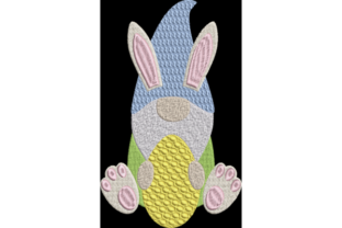 Easter Bunny Gnome Ostern Stickdesign von Wingsical Whims Designs