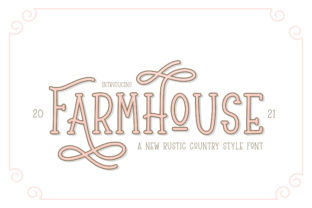 Print on Demand: Farmhouse Display Font By Salt & Pepper Designs
