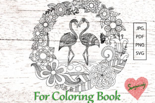 Flamingo for Adult Coloring Book Graphic Coloring Pages & Books Adults By somjaicindy