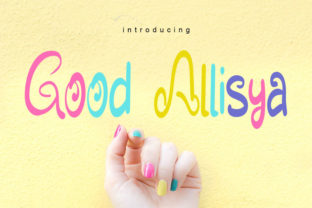 Print on Demand: Good Allisya Script & Handwritten Font By muhawk47