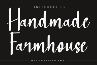 Print on Demand: Handmade Farmhouse Script & Handwritten Font By Misterletter.co