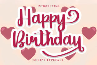 Print on Demand: Happy Birthday Script & Handwritten Font By K_IN Studio