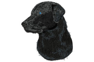 Labrador Retriever Looking to the Side Dogs Embroidery Design By Dizzy Embroidery Designs