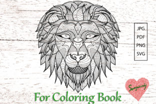 Lion for Adult Coloring Page Graphic Coloring Pages & Books Adults By somjaicindy