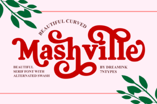 Print on Demand: Mashville Serif Font By Dreamink (7ntypes)
