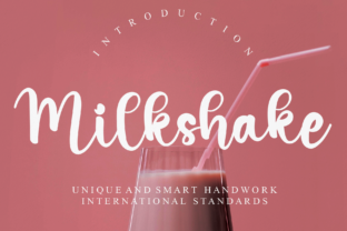 Print on Demand: Milkshake Script & Handwritten Font By Misterletter.co