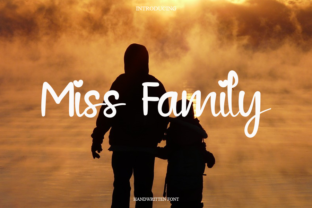 Print on Demand: Miss Family Script & Handwritten Font By HENGKIPRAMUDI