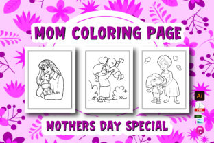 Mom Coloring Page for Kids and Girls Graphic Coloring Pages & Books Kids By Moonz Coloring