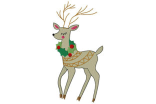 Print on Demand: Oh, My Deer! Wild Animals Embroidery Design By Dizzy Embroidery Designs