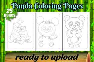 Panda Coloring Pages for Kids Book Graphic Coloring Pages & Books Kids By Colors Graphic