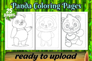 Panda Coloring Pages for Kids Book Graphic KDP Interiors By Colors Graphic