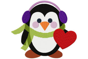 Print on Demand: Penguin, Music, Love Music Embroidery Design By Dizzy Embroidery Designs