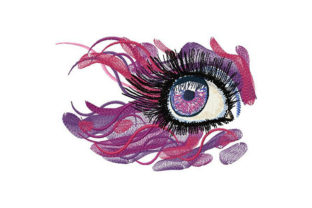 Psychedelic Eye Fashion & Beauty Embroidery Design By Dizzy Embroidery Designs