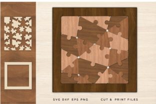 Puzzle SVG, Cut File , Jigsaw Graphic 3D SVG By 2dooart