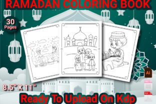 Print on Demand: Ramadan Coloring Book for Kids Graphic KDP Interiors By Duaa Store