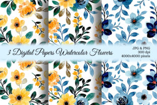 Print on Demand: Seamless Pattern Floral Watercolor 141 Graphic Patterns By asrulaqroni