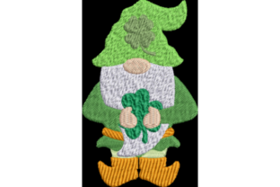 St. Patrick's Day Gnome St Patrick's Day Stickdesign von Wingsical Whims Designs