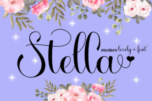 Print on Demand: Stella Script & Handwritten Font By Slex_studio