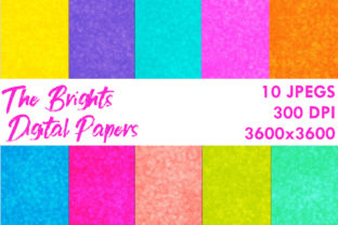 Print on Demand: The Brights Digital Papers Graphic Backgrounds By G.Gray