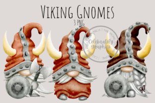 Viking Gnome Clipart Graphic Illustrations By Celebrately Graphics