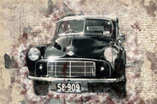 Print on Demand: Vintage Car Printables 300 Dpi Pack 25 Gráfico Ilustraciones Por The leaves river