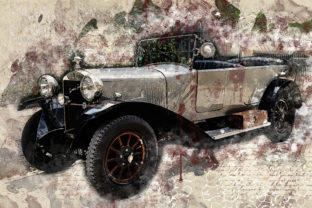 Print on Demand: Vintage Car Printables 300 Dpi Pack 26 Graphic Illustrations By The leaves river