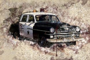 Print on Demand: Vintage Car Printables 300 Dpi Pack 27 Graphic Illustrations By The leaves river