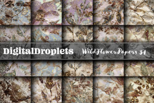 Wild Flowers Papers Vol. 34   Collection Graphic Backgrounds By FlyingMonkies
