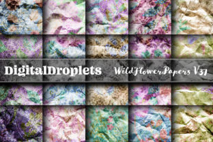 Wild Flowers Papers Vol. 37 | Collection Graphic Backgrounds By FlyingMonkies