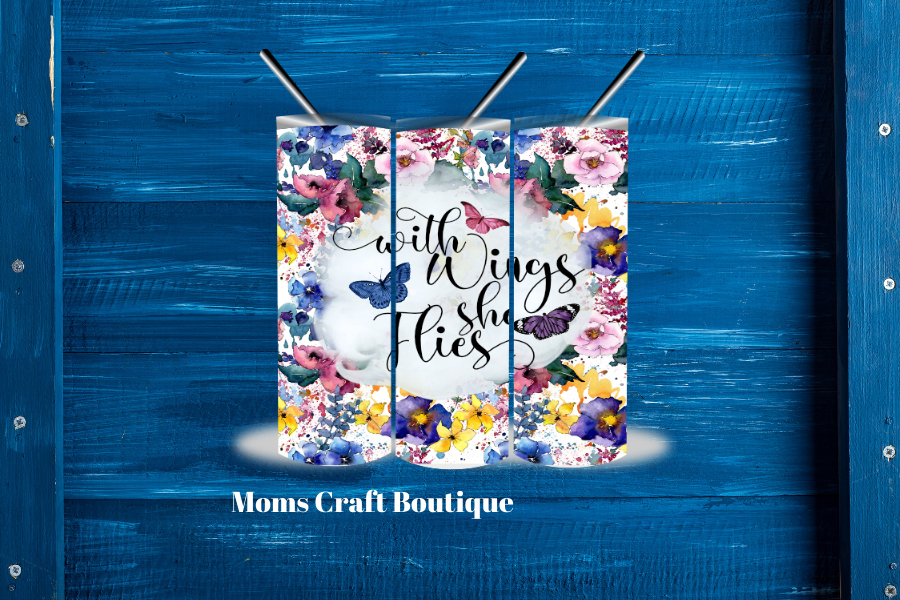 With Wings She Flies | Sublimation SVG File