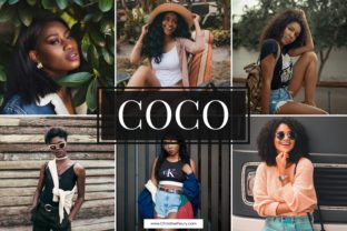 Print on Demand: 5 Coco Mobile Lightroom Presets Graphic Actions & Presets By Christine Fleury