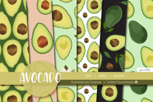Print on Demand: Avocado Seamless Pattern Fruit Graphic Graphic Patterns By jannta