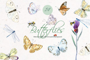 Butterflies Clipart Graphic Illustrations By lena-dorosh