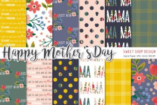 Digital Paper Pack Happy Mother's Day Grafik Muster von Sweet Shop Design