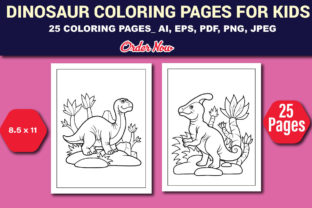 Print on Demand: Dinosaur Coloring Pages for Kids Graphic Coloring Pages & Books Kids By DesignBuzz