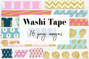 Print on Demand: Exotic Washi Tape Clipart Graphic Objects By northseastudio