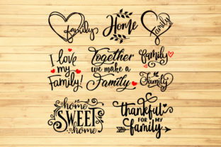 Print on Demand: Family Quotes Bundle Graphic Crafts By LightBoxGoodMan