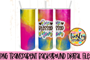Galaxy Print Blessed Mom Tumbler Wrap Graphic Illustrations By tiffanator606