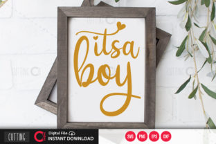 Print on Demand: Its a Boy Svg Gráfico Crafts Por PrintableSvg