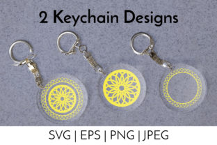 Keychain Boho Abstract Backgrounds SVG Graphic Objects By neauth